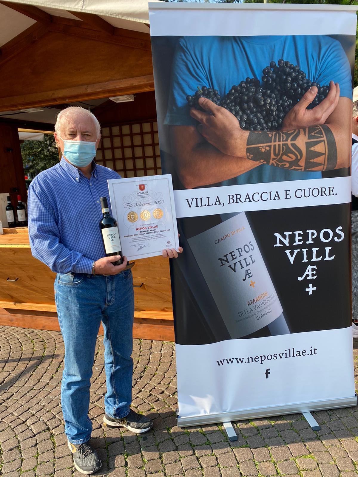 """Amarone """"Campo di Villa"""" premiato da Hostaria Verona 2020"""